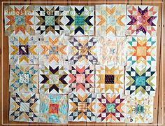 Final layout of the Double Star quilt top