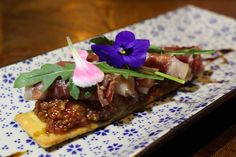 Crystal Bread with Fig, Foie Gras and Iberico Ham