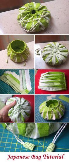 Japanese Omiyage Bag Tutorial. DIY Craft Idea   http://www.free-tutorial.net/2017/01/japanese-omiyage-bag-tutorial.html