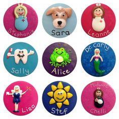 Personalised Fimo Name Badges Work/Kids by StuckOnYouBadges