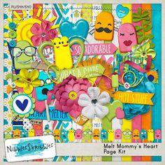 Melt Mommy's Heart by Nibbles Skribbles #thestudio #digitalscrapbooking