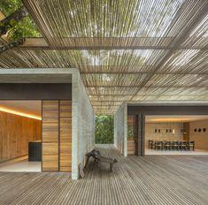 Sand House, Beach House, Tropical Architecture, Architecture Design, Studio Mk27, Wooden Decks, Story House, Home Studio, Stone Flooring