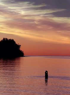 Sunset Kiss at Parksville Beach, Vancouver Island
