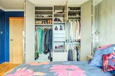 The pull out laundry basket means that you can keep everything tidy and hidden away Living Room Storage, Storage Room, Made To Measure Wardrobes, Hanging Rail, Laundry Basket, Design Projects, Shelves, House Design, Interior Design