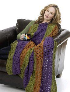 Learn how to crochet the Andante throw with this free, easy to crochet afghan pattern featuring decorative joined squares.