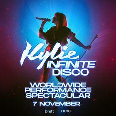 #KylieMinogue presenta #InfiniteDisco el 7 de noviembre de 2020, el concierto de presentación de su álbum #Disco, transmitido en todo el mundo. 🌐 Kylie Minogue, Journey, Pop Music, Infinite, Dance, Celebrities, Queens, World, Concert