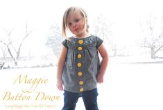 Maggie Button Down {from Maggie Mae Pattern}