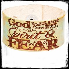 "2Timothy 1:7 ""God has not given us a spirit of fear"" kids cuff is great for those kiddos that  struggle with anxiety. Give them a tool for their hearts and mind   www.zulily.com"