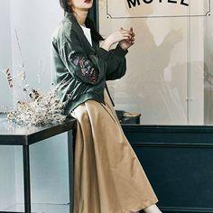 ✔️ZOZOTOWN NEWS ZOZOTOWN限定 先行予約会は明日までです!! ・刺繍ブルゾン ・ボリュームフレアスカート ・ビットローファー #MURUA#2016AWmurua#blouson#skirt #shoes #fashion#zozotown
