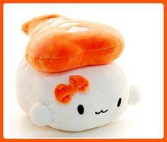 "Sushi Cushion Shrimp by Choba 6"" 15cm - Japanese Food Plush Toy Decoration Pillow - Plush cuteness (*Amazon Partner-Link)"