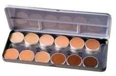 This Ben Nye Makeup Matte Foundation Palette will keep you prepared for just about every skin tone. The Matte formula provides flawless, natural coloring from sheer to full coverage in a light, silky texture. Sheer Foundation, Best Foundation Makeup, Rcma Makeup, Contour Makeup, Makeup Kit, Makeup Products, Sfx Makeup, Beauty Products, Blush