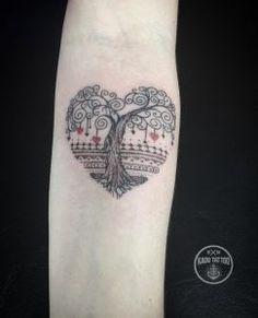 Heart-shaped tree tattoo by Kadu