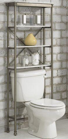 Over Toilet Shelf Bathroom Tower Storage Organizer Rack Space - Behind toilet storage for small bathroom ideas