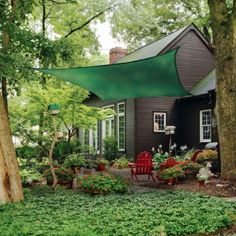 ShelterLogic ShadeLogic Sun Shade Sail, Heavy Weight 16 ft. Square, Evergreen - Tractor Supply Online Store
