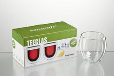 Teeglas Tanger 2er-Set Flip Clock, Container, Decor, Tangier, Corning Glass, Gift Wrapping, Christmas Time, Packaging, Craft