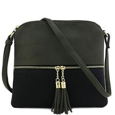 Women Leather Tassel Crossbody Bag Hit Color Shoulder Bags Messenger Bag Backpack Splice Package for Girl - Multicolor Sling Backpack Purse, Messenger Bag Backpack, Wallets For Girls, Cute Wallets, Medium Crossbody Bags, Leather Tassel, Pu Leather, Girl Backpacks, Leather Shoulder Bag