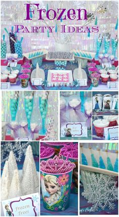 70 Ideas party kids birthday disney frozen for 2019 Disney Frozen Party, Frozen Themed Birthday Party, 6th Birthday Parties, Girl Birthday, Birthday Ideas, Frozen Themed Food, Frozen Party Food, Frozen Kids, Birthday Supplies
