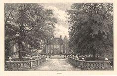 Antique print Beekhuizen Kasteel Biljoen castle Rheden Velp houtgravure 1887
