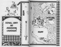 Map of Redwall Abbey and surrounding countryside from Redwall by Brian Jaques.
