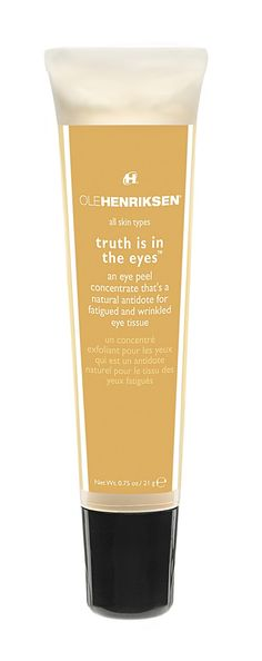 A peel for EYES with lactic and glycolic acids, micro algae and rice bran protein. Skin Care Cream, Skin Cream, Eye Cream, Caroline Hirons, Pimples Remedies, Ole Henriksen, Best Face Products, Beauty Products, Face Skin Care