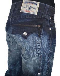 True Religion Mens Jeans Size 34 Straight with Flaps Moto Zip Pocket NWT $374 #TrueReligion #ClassicStraightLeg