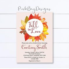 Hey, I found this really awesome Etsy listing at https://www.etsy.com/listing/530961224/fall-in-love-bridal-shower-invitation