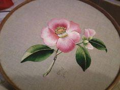 """Satin stitch; beautiful way to """"paint"""""""