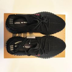 ADIDAS Yeezy Boost 350 V2 CP9652 Bred Black Red Size 10 Kanye West 2017 New