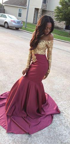 Gold prom dresses, grad dresses, homecoming dresses, burgundy and gold Grad Dresses, Homecoming Dresses, Wedding Dresses, Elegant Dresses, Pretty Dresses, Formal Dresses, Prom Looks, Costume