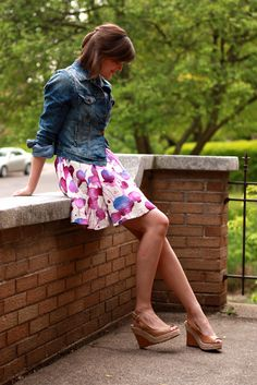 really like the printed skirt