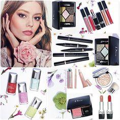 Сегодня день весенних коллекций. Это кокетливая весна Dior Glowing Gardens Spring 2016. Что вам приглянулось?/ what's on your wishlist?  #diorbeauty #diormakeup #glowinggardens #diorspring2016