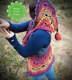 42 Ideas For Crochet Mandala Vest Free Pattern Lion Brand Crochet Mittens Free Pattern, Crochet Vest Pattern, Crochet Jacket, Crochet Cardigan, Free Crochet, Crochet Vests, Bohemian Crochet Patterns, Crochet Sweaters, Irish Crochet
