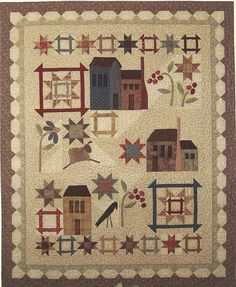 Hey, I found this really awesome Etsy listing at http://www.etsy.com/listing/160267975/primitive-folk-art-quilt-pattern-village