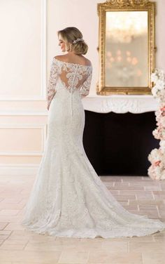 6662 Off-the-Shoulder Lace Wedding Dress by Stella York