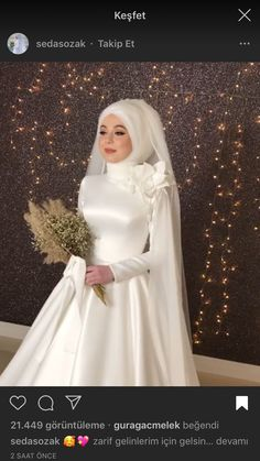 (notitle) Tesettür Gelinlik Modelleri 2020 Muslimah Wedding Dress, Hijab Style Dress, Muslim Wedding Dresses, Wedding Dress Sleeves, Wedding Suits, Bridal Gowns, Wedding Gowns, Hijab Evening Dress, Hijab Stile