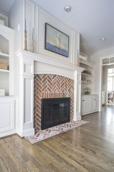 Great Totally Free Fireplace Hearth removal Suggestions  brick herringbone fireplace in hearth room, cape cod coastal style decor # fireplace hearth, brick  #Fireplace #Free #Great #Hearth #removal #Suggestions #Totally Brick Fireplace Makeover, Farmhouse Fireplace, Home Fireplace, Faux Fireplace, Fireplace Remodel, Fireplace Surrounds, Fireplace Design, Brick Fireplaces, Fireplace In Living Room
