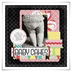 Inspiration du Jour | Baby Cakes · Scrapbooking | CraftGossip.com