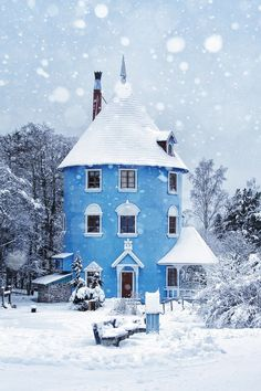 The Moomin House in Naantali, Finland via Dream Home blog.