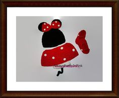 CROCHET MINNIE MOUSE  - infant costumes - Baby Sets - Minnie mouse skirt set…