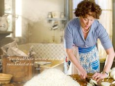 """"""" (i use to watch the Julia Child cooking show and loved it. watching Meryl play her was really fun. Movies About Food, Good Movies, Stanley Tucci, English House, Entertainment, Domestic Goddess, Meryl Streep, Food Inspiration, Apron"""