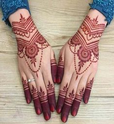 New and Trendy Bridal Mehndi designs that will rule hearts! -You can find Mehndi and more on our website.New and Trendy Bridal Mehndi designs that will rule hearts! Henna Hand Designs, Eid Mehndi Designs, New Bridal Mehndi Designs, Mehndi Designs Finger, Stylish Mehndi Designs, Mehndi Design Pictures, Beautiful Mehndi Design, Bridal Henna, Henna Tattoo Designs Arm