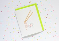 udon know how much I love you  CARD: • Blank inside • Paired with a coloured envelope of your choice (blue, green, pink, yellow) • Size is A2 (4.25