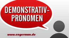 German Grammar - Demonstrativpronomen | L E A R N G E R M A N