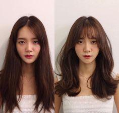 Pin on 헤어스타일 Kawaii Hairstyles, Trendy Hairstyles, Korean Bangs, Side Bangs, Layered Hair, Perm, Hair Looks, Short Hair Styles, Hair Makeup