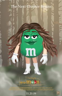All M M Candy Characters | ... poster that promote the m m candy character ms green as bella swan
