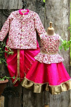 India fashion for kids - incredibly chic Baby Boy Dress, Baby Girl Dresses, Kids Dress Collection, Kids Party Wear, Kids Ethnic Wear, Kids Dress Wear, Kids Dress Patterns, Kids Lehenga, Kids Frocks