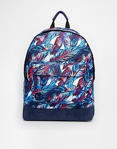 ASOS - Mi-Pac Backpack in Feather Print
