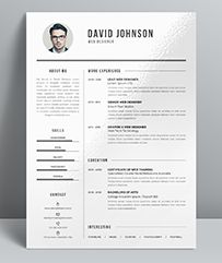 Resume / CV Template With Super Modern And Professional Look. Elegant Page  Designs Are Easy To Use And Customise, So You Can Quickly Tailor Make Your  Resume ...