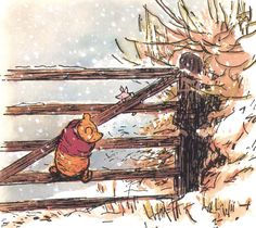 """""""We'll be Friends Forever, won't we, Pooh?' asked Piglet.  Even longer,' Pooh answered.""""  A.A. Milne (Winnie-the-Pooh)     Illustration  E. H. Shepard"""