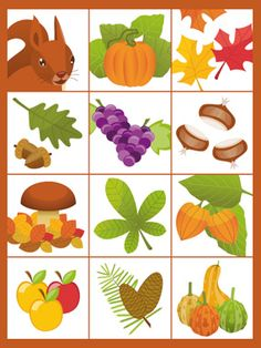 Fabriquer un mémory d'automne facilement Preschool Education, Preschool Activities, Kindergarten Rules, Daycare Themes, Sequencing Cards, Fall Games, Autumn Activities For Kids, Applique Patterns, Autumn Theme